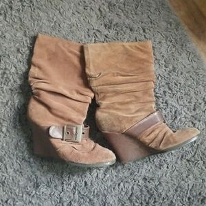 Dr. Scholl's Brown Buckle Boots